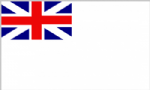 Naval Ensign White Squadron Flag - 5' x 3'